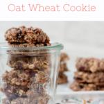 実際に作った朝食にチョコっと!チアシードとオーツ麦のクッキーの写真です。