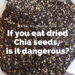 チアシードをそのまま食べてしまったら危険だと言うことを示す画像。